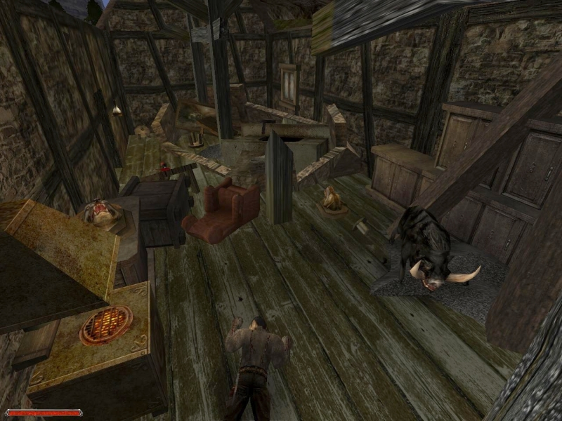 During the orc attack, Bengar's farm was devastated and is now abandoned.