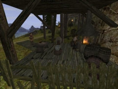 Brian has set up a smithy at Jack's beacon, just as he intended.